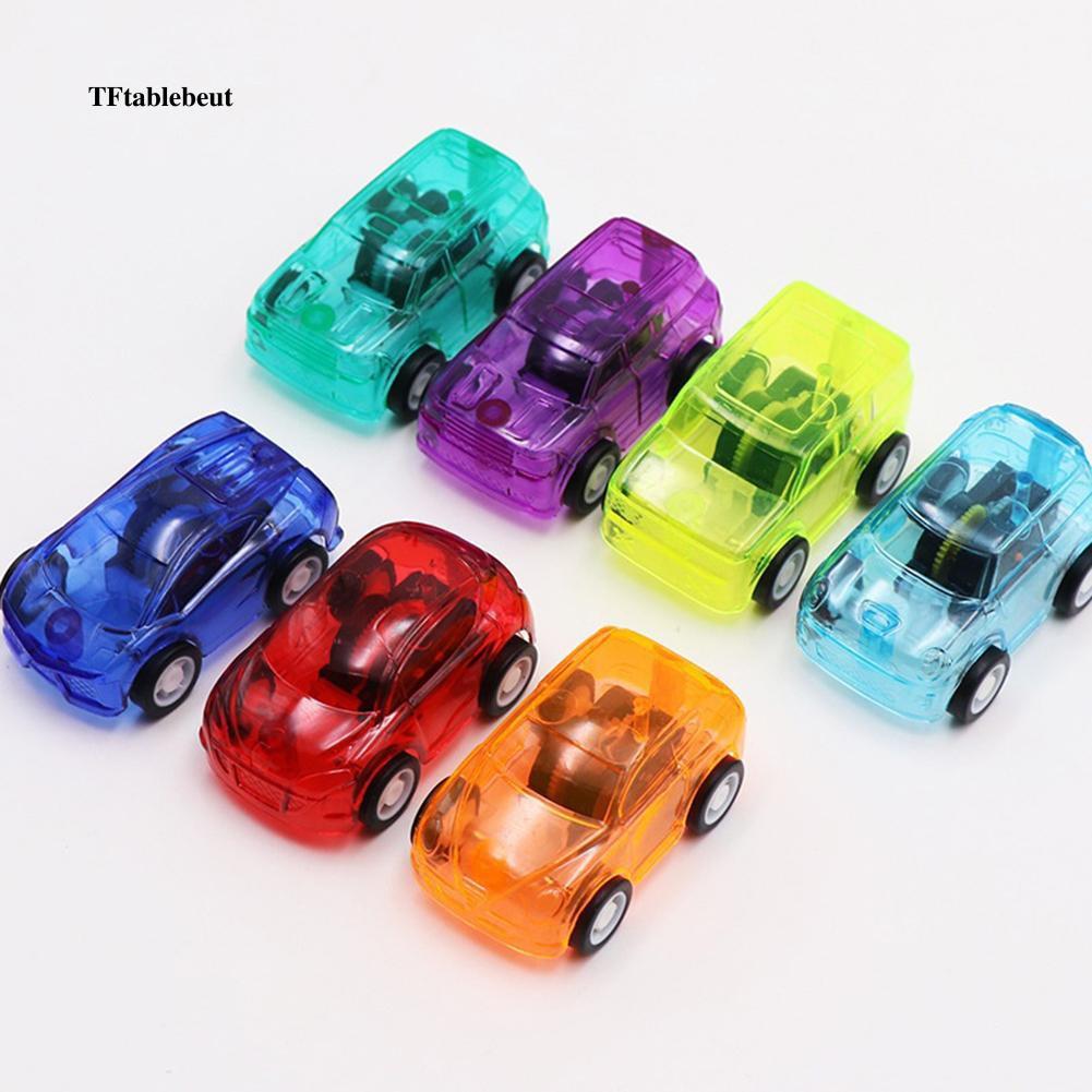 Xe đồ chơi mini bằng nhựa trong suốt màu kẹo ngọt cho bé