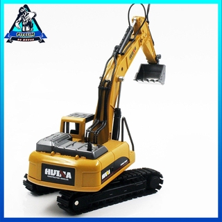 HUINA TOYS NO.1710 1/50 Alloy Excavator Truck Car Engineering Model Kids Toys