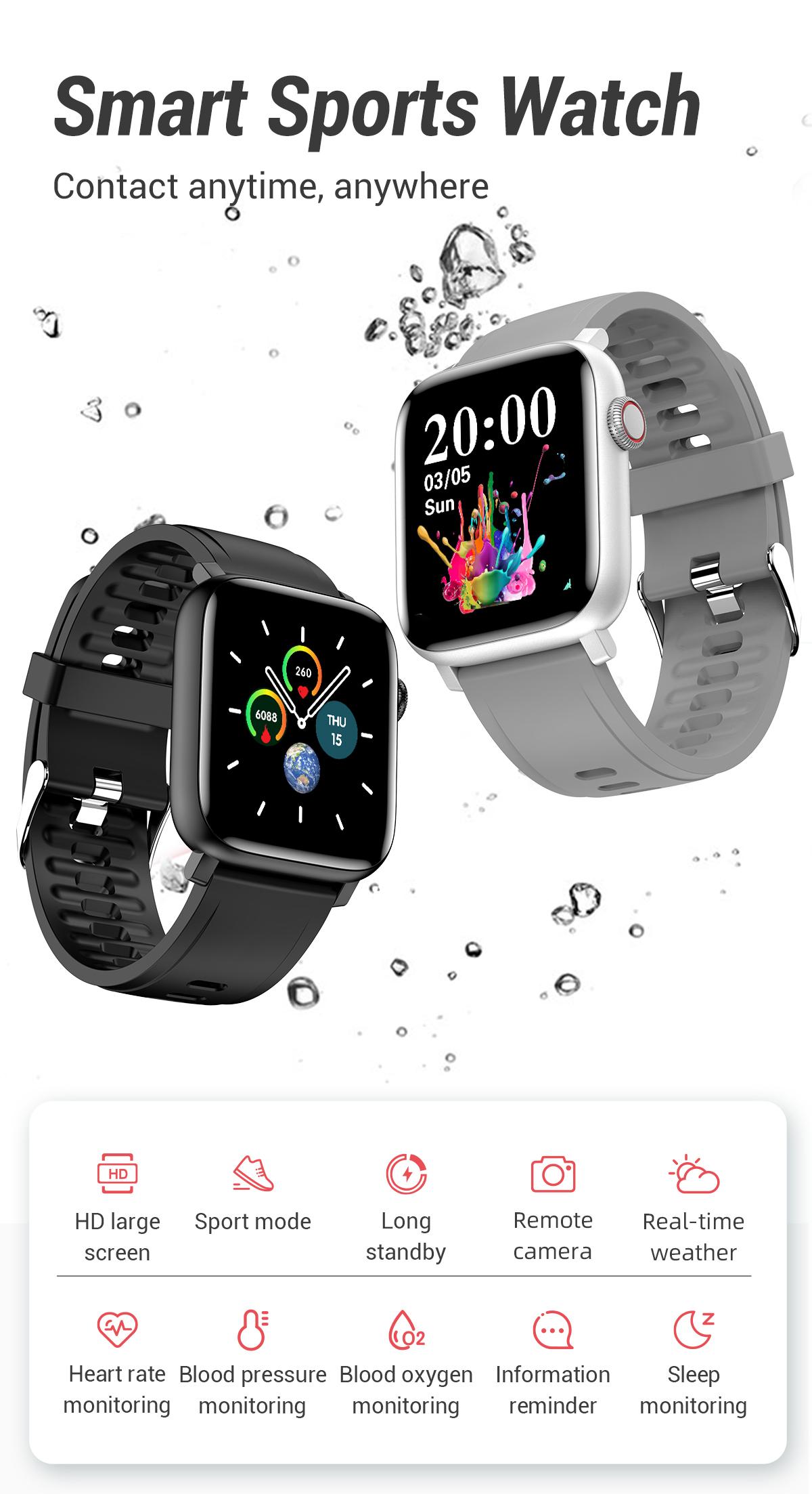 Đồng Hồ Thông Minh thiết bị điện dong ho thong minh thiết bị đeo IP68 đồng hồ thể thao vòng đeo tay thông minh