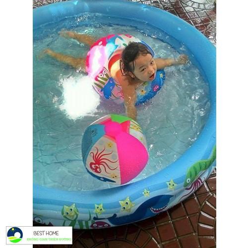 Giá Xuất Xưởng -Bể bơi phao cho bé 3 chi tiết + xúc cát + bộ câu cá + 100...