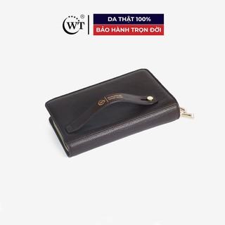 Ví Cầm Tay Nam Clutch Có Quai Cầm Da Bò Cao Cấp Màu Nâu, Màu Đen WT Leather 0937.1, 0937.2
