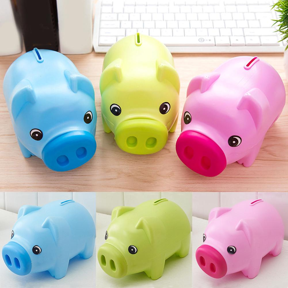 Cute Cartoon Piggy Bank For Children Or Lovers Home Decoration Child Present Money Saving Cans