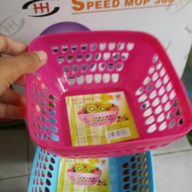 Rổ vuông nhựa giá rẻ - 2909219 , 340182111 , 322_340182111 , 7000 , Ro-vuong-nhua-gia-re-322_340182111 , shopee.vn , Rổ vuông nhựa giá rẻ