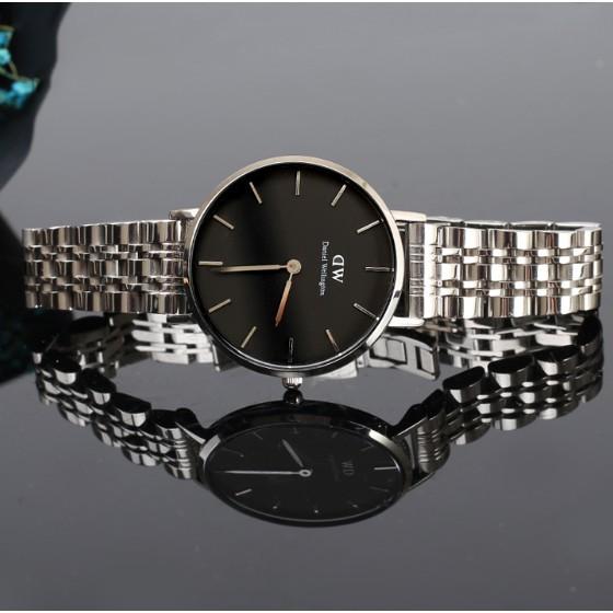 DanielWellington แท้จริง100%DWนาฬิกาข้อมือผู้ชาย นาฬิกาคู่รักรายชื่ออย่างเป็นทางการของควอทซ์เข็มขัด
