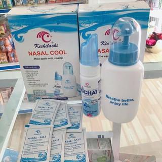 Bình rửa mũi NASAL COOL + 6 gói muối và 1 bình xịt mũi