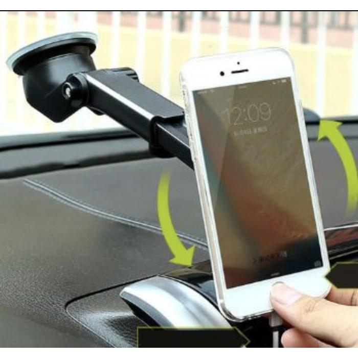 Giá treo gắn điện thoại trong ô tô 2 in 1 dính taplo hoặc kẹp cửa gió xe hơi