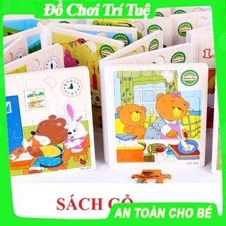 Sách gỗ ghép hình 6 trang – hàng Việt Nam loại I