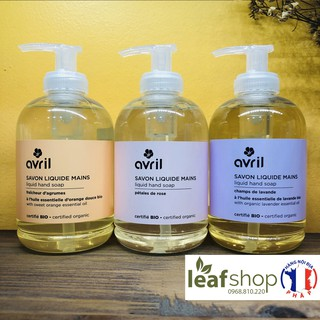 Nước rửa tay hữu cơ hương cam, hoa hồng và oải hương Avril 300ml