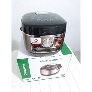 Nồi cơm điện tử Nagakawa NAG0123, dung tích 1.5L với 10 chức năng nấu và giữ ấm cơm, bảo hành 12 tháng chính hãng thumbnail