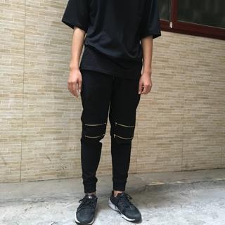 Quần jogger kaki 4 khoá zip