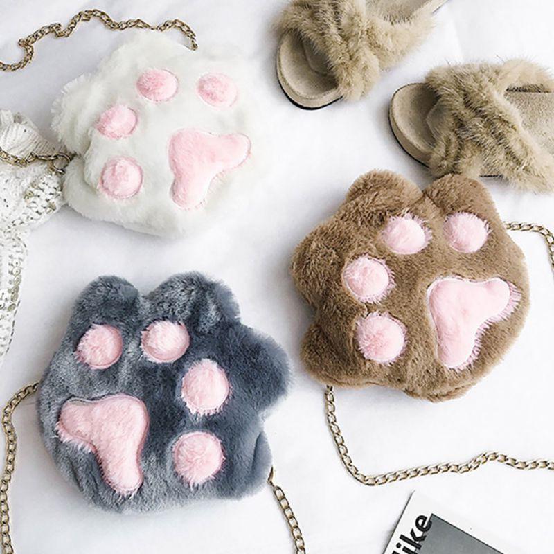 Túi đeo chéo hình dấu chân mèo dễ thương