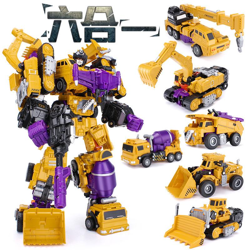✒▲Deformed Toy King Kong 5 engineering vehicle Large fit automobile Hercules robot hand-run model child Boy 4