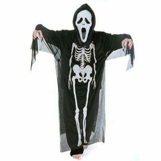 Trang phục hóa trang Halloween. Áo bộ xương, mặt nạ, bao tay