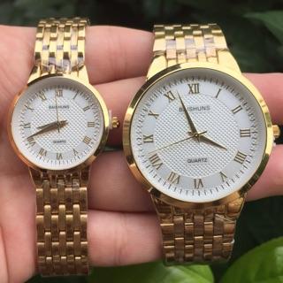 Đồng hồ cặp Baishuns mặt trắng cực đẹp thumbnail