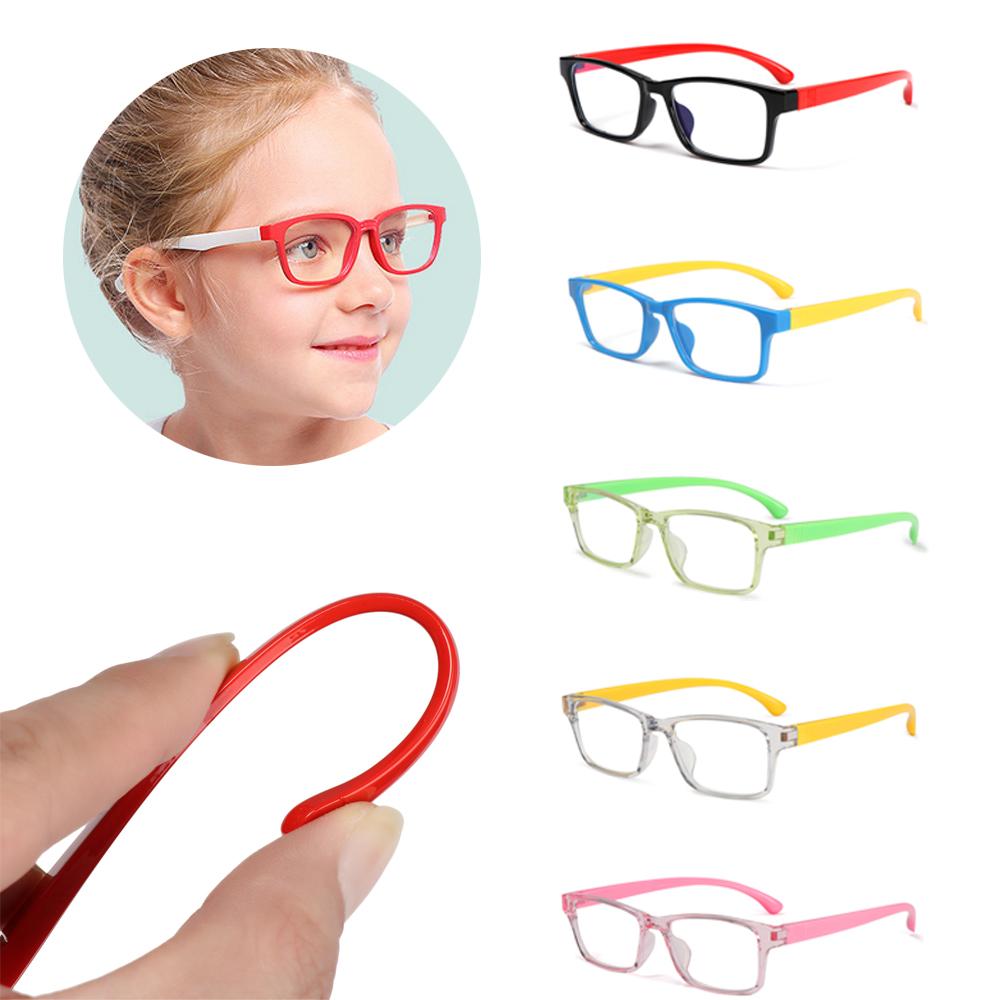 XIANSTORE Boys Girls Fashion Kids Goggles Anti-blue Rays Silicone Eyewear Anti-blue Light Glasses Vision Care Ultralight Soft Frame Radiation Protection...
