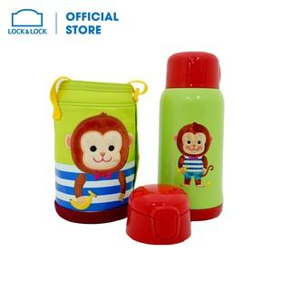 [Mã LIFELOCK05 giảm 10% tối đa 100K đơn 300K] Bình nước giữ nhiệt Cartoon Kids Vacuum Bottle 550ml Lock&Lock LHC1435MKY thumbnail