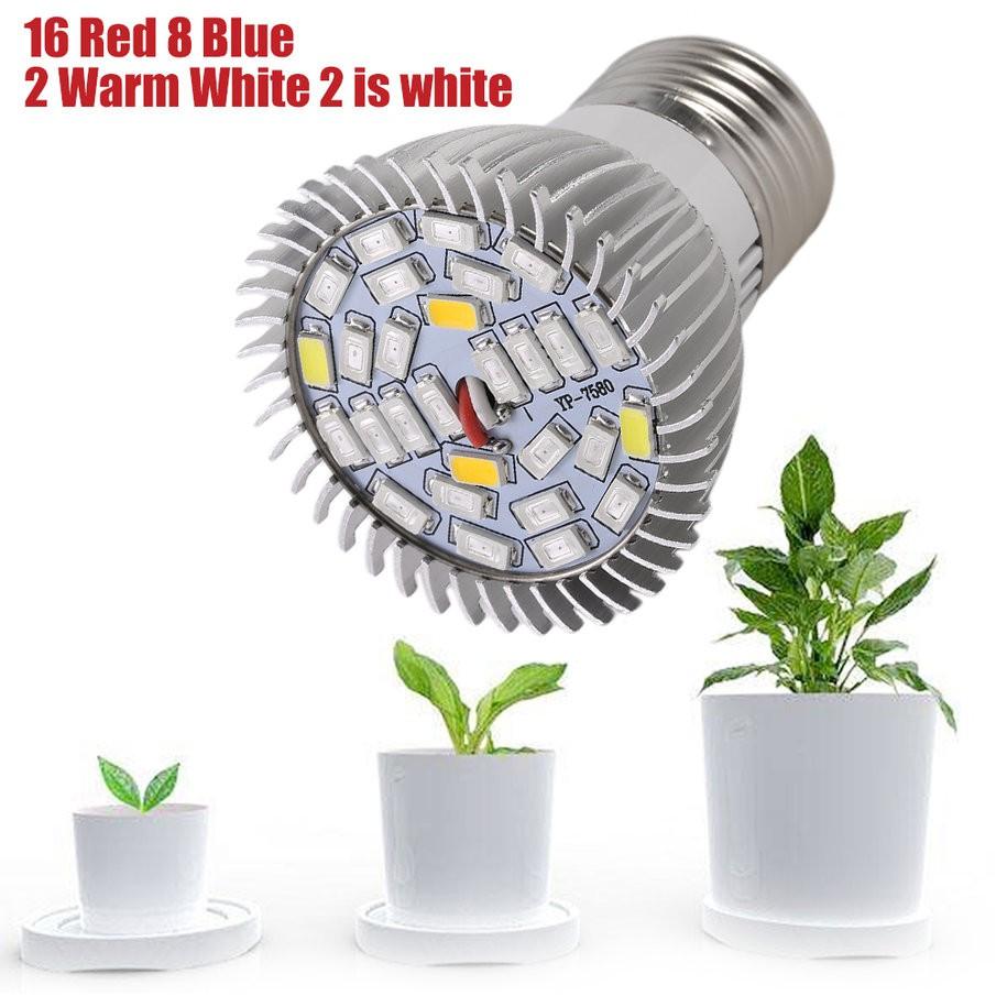 yks#LED Plant Grow Light E27 Hydroponics For Indoor Greenhouse Flower Grow Box