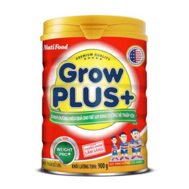 (nhập mã TKBSUN2 giảm 5%) Sữa bột nuti Grow Plus+ đỏ- hộp 900g date 2020