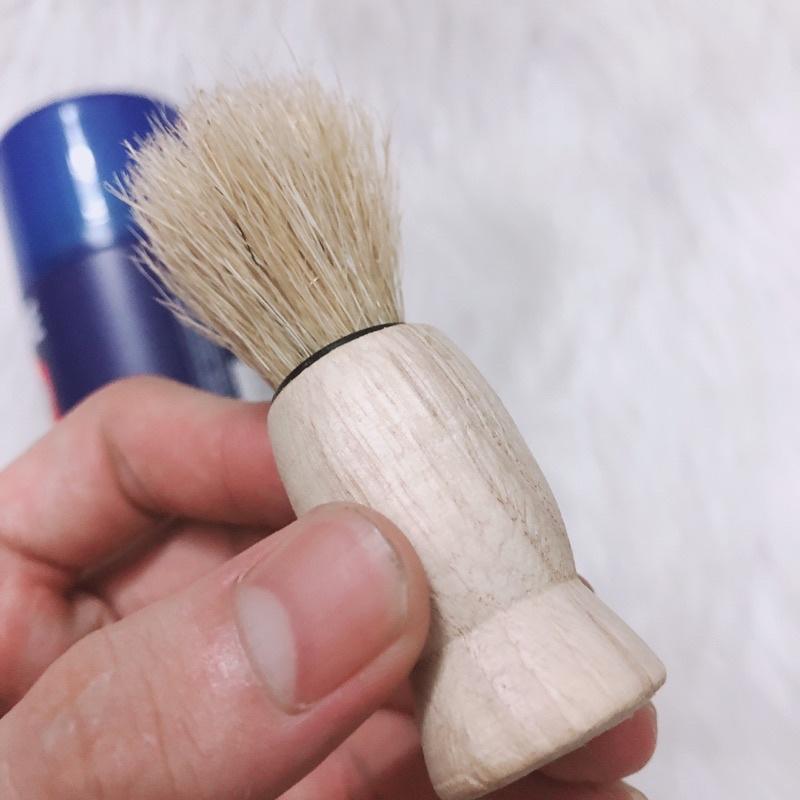 kem bọt cạo râu trà xanh 300g , chổi quét bọt cạo lông mặt