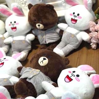 Gấu Brown và thỏ Cony nhồi bông Hàn Quốc