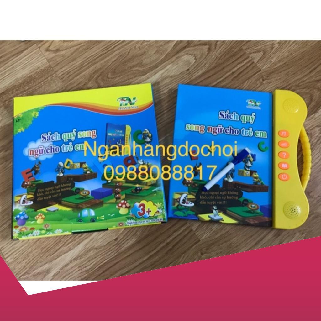 [Giảm 9k cho đơn từ 99k] Sách điện tử song ngữ anh việt cho trẻ em tặng kèm 1 set tập tô bay mực 3 quyển 3 bút 9 ngòi .