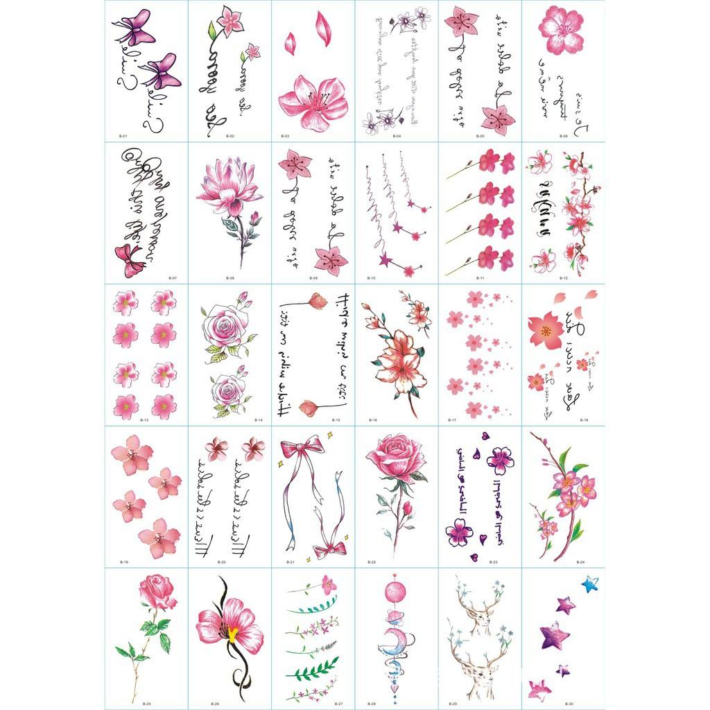 combo 150 tấm xăm dán tatoo hình ngẫu nhiên 150 mẫu