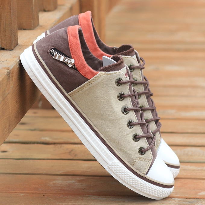 men's Sneakers◈■☜Back men's shoes summer breathable canvas male low help Korean version trend casual sneakers hundred