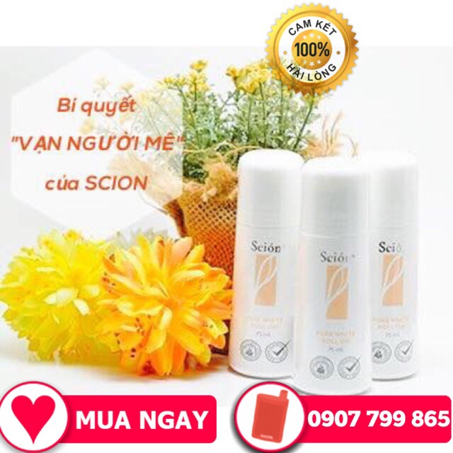 LĂN KHỬ MÙI SCION Nuskin Scion Pure White Roll On Freeship Lăn Nách Scion