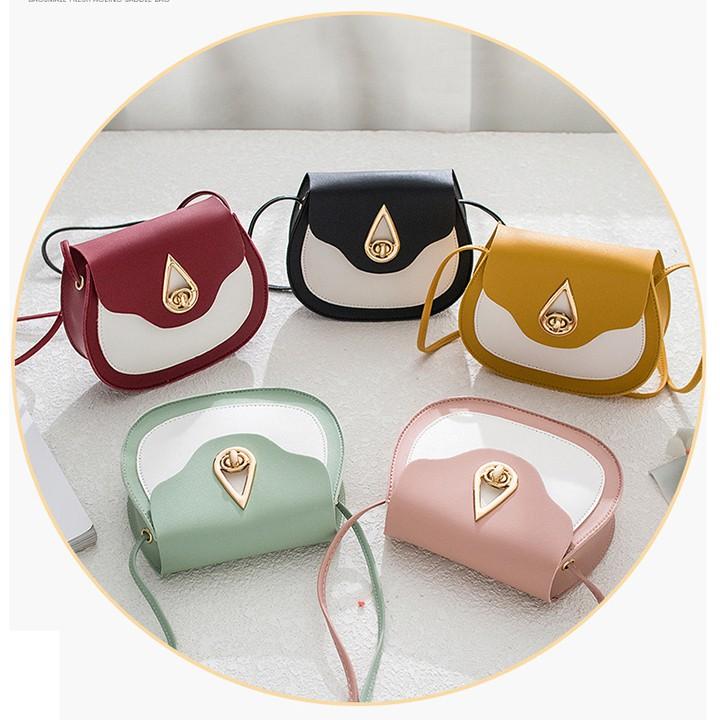 Túi đeo chéo nữ -túi xách mini khóa giọt lệ-TXN140