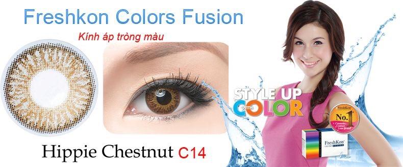 Kính áp tròng Freshkon Colors Fusion 3 tháng - Hippie Chestnu