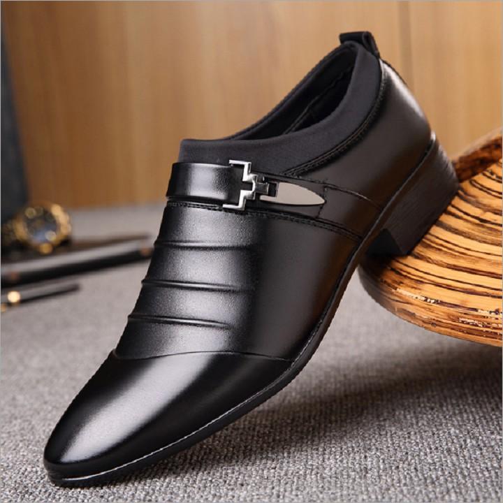 Giày tây nam da bò đế mềm GN265