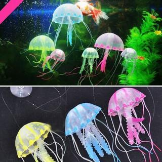 TMR Glowing Effect Artificial Jellyfish Ornament Fish Tank Aquarium Decoration