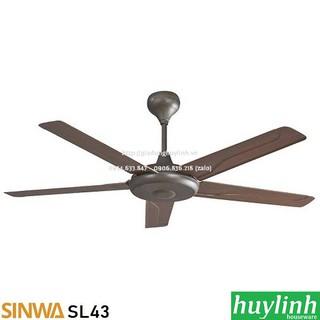 [Mã 159ELSALE hoàn 7% đơn 300K] Quạt trần cánh nhựa Sinwa SL43 - 5 cánh - Có Remote