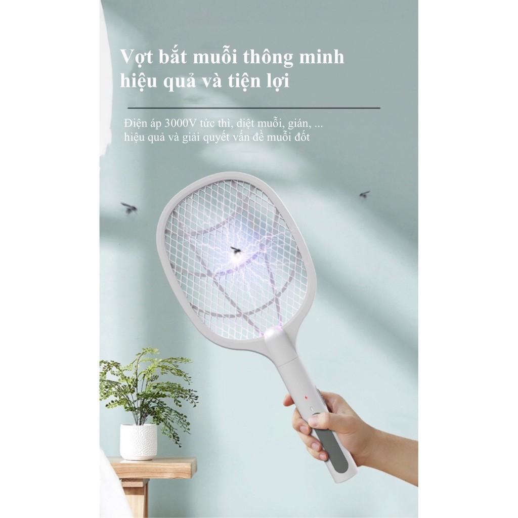 Máy bắt muỗi , Vợt muỗi kiêm đèn bắt muỗi tự động cao cấp pin sạc 1200 mAh