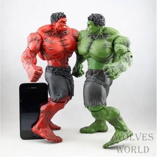 Mô hình người khổng lồ xanh Hulk và Red Hulk cao 26cm
