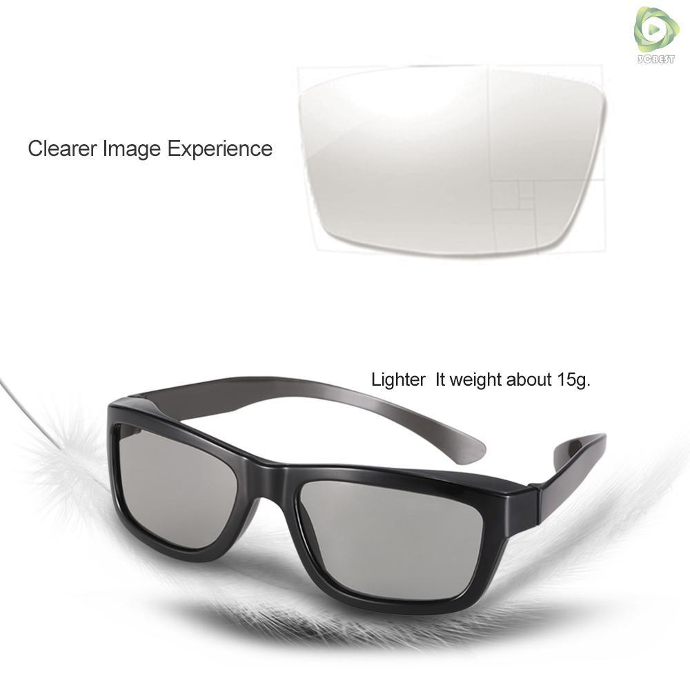 3&C Passive 3D Glasses Circular Polarized Lenses for Polarized TV Real D 3D Cinemas for Panasonic