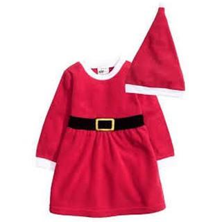 SALE_Set váy Noel Noen H M H&M kèm mũ cho bé gái 4-6 tháng _ hàng chính hãng authentic Mỹ