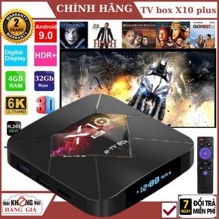Android TV BOX X10 Plus RAM 4Gb , Bộ nhớ 32Gb , xem phim 6K, chơi game, hỗ trợ tính năng tìm kiếm bằng giọng nói