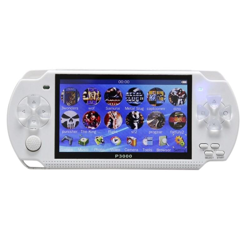 Máy chơi game cầm tay 4 nút P3000 màn hình 4.3 inch chơi được game PS1/SNES/GBC/GBA/SMC tích hợp sẵn 10000 trò - Fullbox