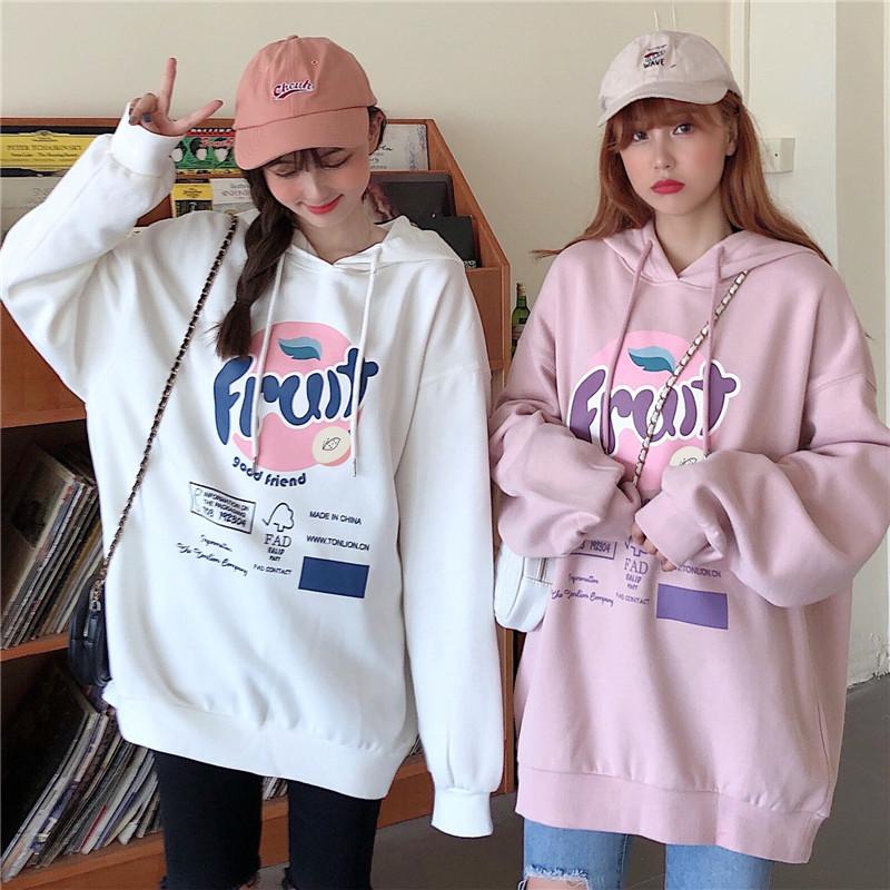 Áo Sweater Tay Dài Dáng Rộng Thời Trang Xinh Xắn Cho Nữ