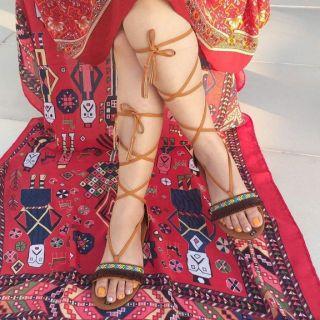Giày Sandal Chiến Binh Thổ Cẩm Tua Rua