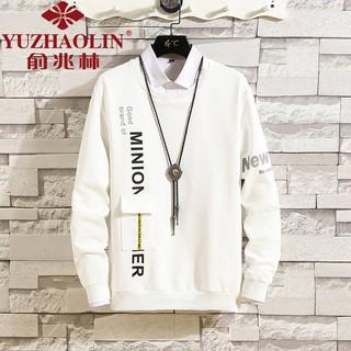 Áo Sweater Tay Dài Cổ Tròn Màu Trơn Thời Trang Mùa Thu Cho Nam Giới 02