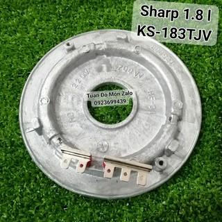 Mâm Nhiệt Nồi cơm điện nắp gài Sharp 1.8 lít KS-183TJV-CH phụ tùng linh kiện chính hãng