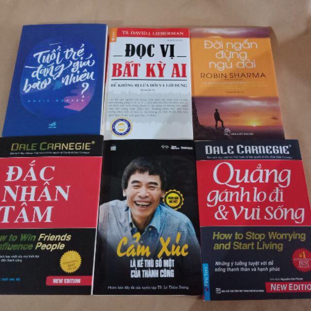 Sách-6 cuốn đắc nhân tâm, cảm xúc là kẻ thù số một của thành công, đọc vị bất kì ai, quẳng gánh, đời