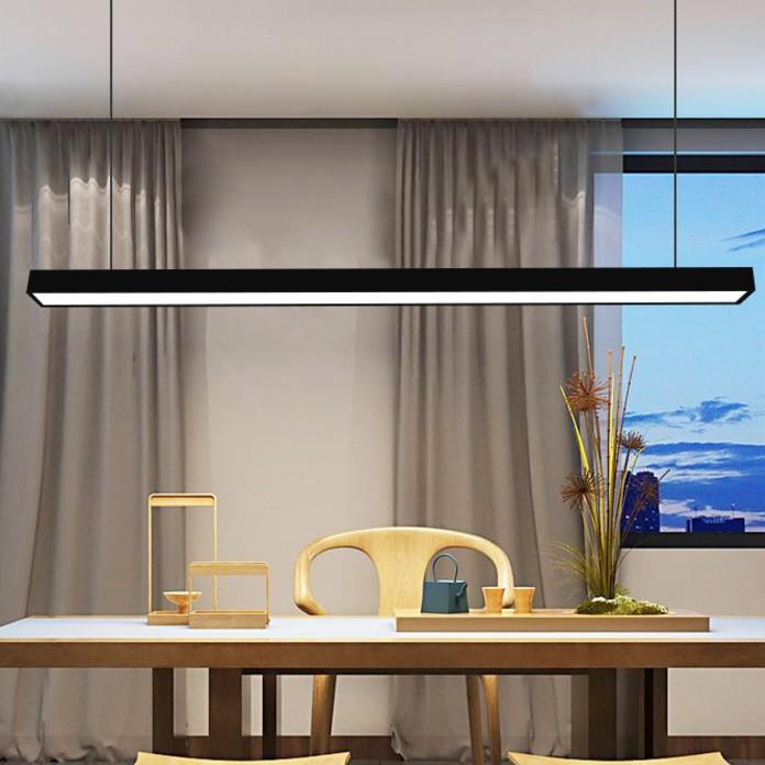 Đèn thả TEZ khung nhôm ánh sáng trắng trang trí văn phòng hiện đại