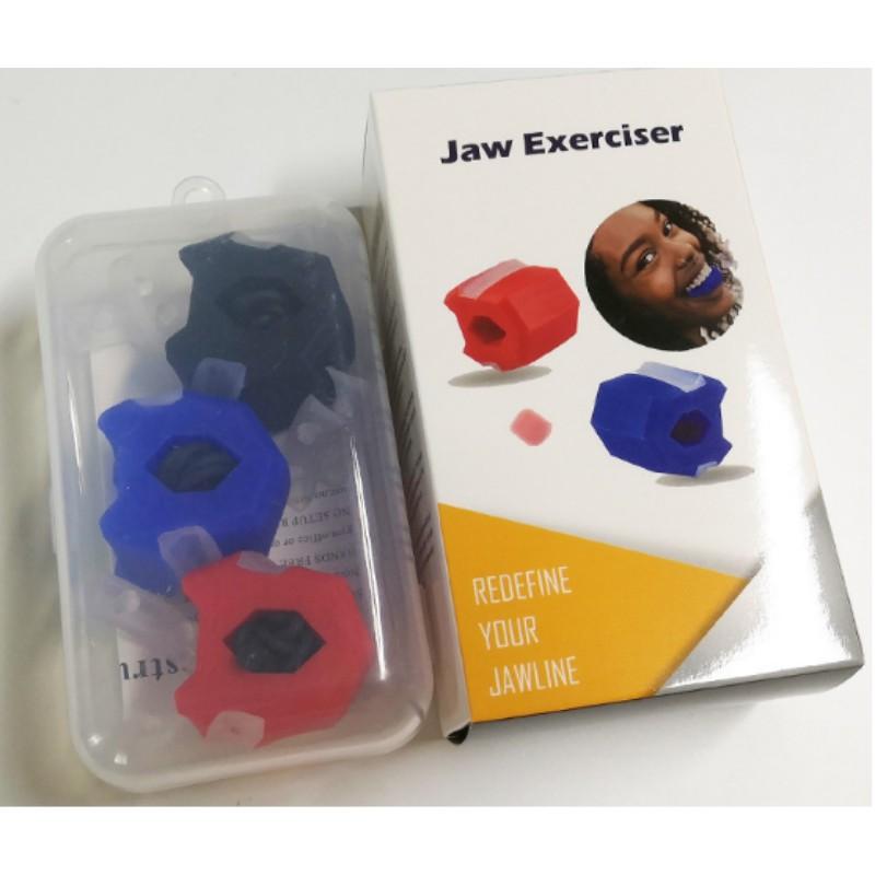 [Bộ 3 sản phẩm chuyên dụng] JAWLINE Dụng cụ tập cơ mặt bằng Organic Silicon - Tạo hình Vline - Giảm mỡ - Xóa nọng cằm