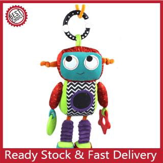 Baby Teether Infant Stroller Bed Hanging Plush Toy Built-in Rattle Boys Girls Birthday Gift
