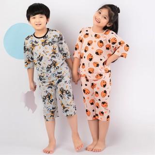 Đồ bộ cotton cho bé trai, bé gái mùa hè. Đồ ngủ, quần áo ngủ trẻ em dễ thương Unifriend U21-06