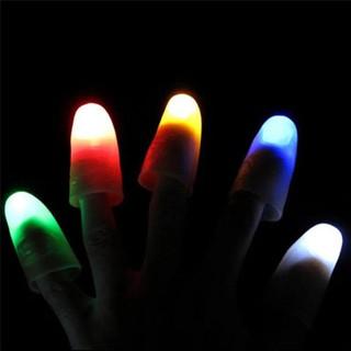 ★Hu 2Pcs Magic Super Bright Light Up Thumbs Fingers Party Club Christmas Trick