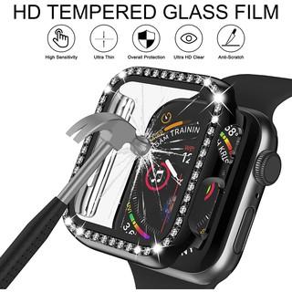 Vỏ Apple Watch Case với Bảo vệ màn hình bằng kính cường lực Bling Crystal Rhinestone Cover cho iWatch Series SE 6/5/4/3/2/1